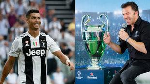 Cristiano Ronaldo, con la Juventus, y Del Piero en el UCL Trophy Tour.