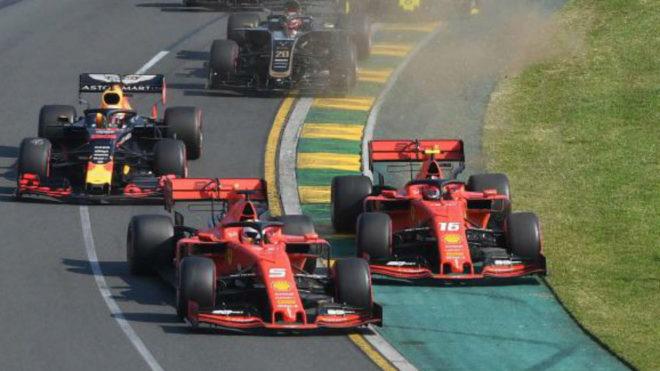 Tenso momento entre los dos pilotos de Ferrari