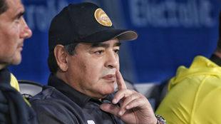 Diego Armando Maradona, entrenador de Dorados.