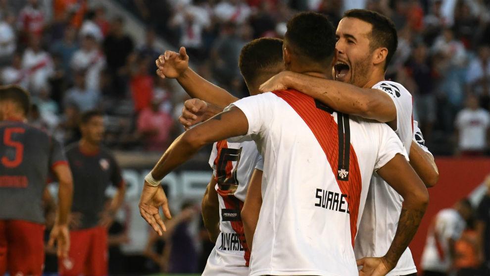 River goleó a Independiente