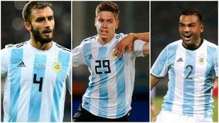 German Pezzella, Juan Foyth y Gabriel Mercado, las principales...