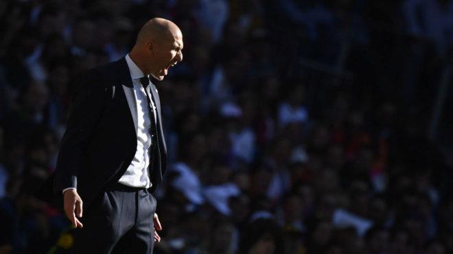 Zinedine Zidane, ante el Celta.