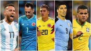 Otamendi, Ospina, Quintero, Suárez y Alves, ausentes en la fecha FIFA...