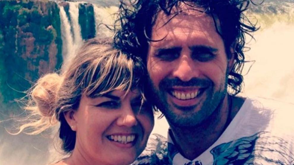 Chiquito Bossi junto a su mujer, Ana Débora Lucero