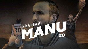 #GraciasManu: San Antonio Spurs prepara la despedida de Ginóbili