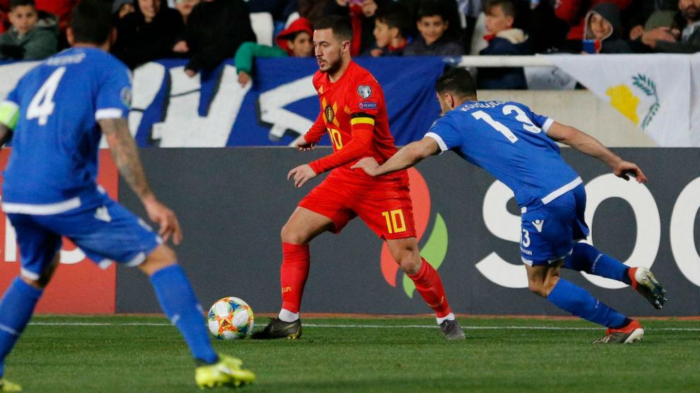Hazard le dio el triunfo a Bélgica