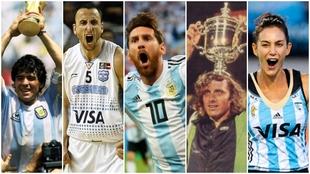Los mejores deportista de la historia argentina