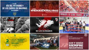 Los mensajes del fútbol argentino por los caídos en Malvinas