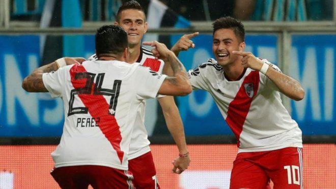 Pity Martínez celebra el histórico gol que le dio el pasaje a la...