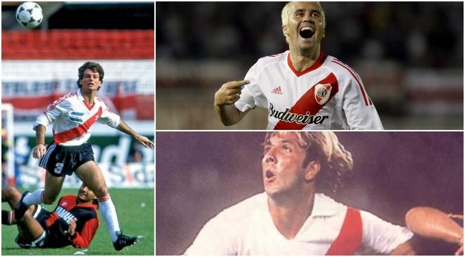 Diego Cocca, Eduardo Coudet y Mostaza Merlo, exjugadores de River y...