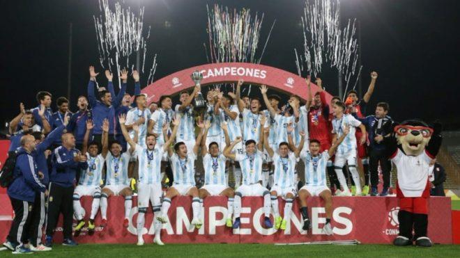 La Selección Argentina Sub 17, campeona en el Sudamericano Perú 2019...