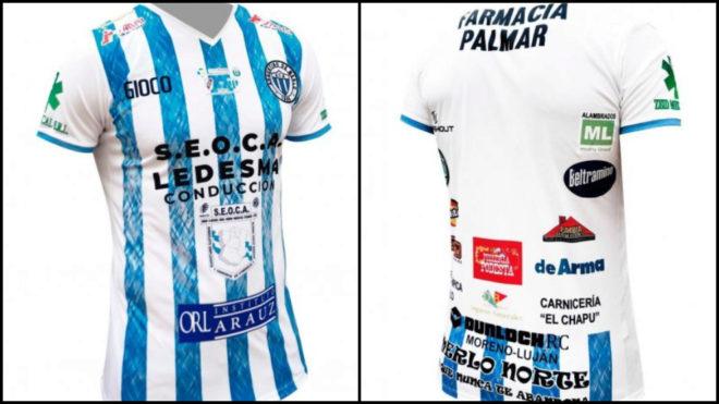 La curiosa camiseta que utilizará Argentino de Merlo ante River,...