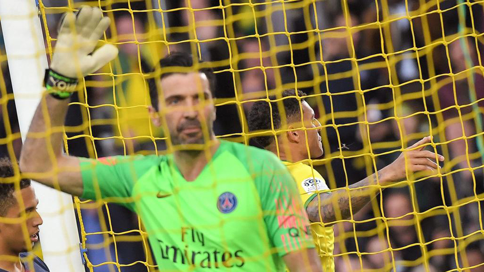Buffon, tras encajar uno de los goles.