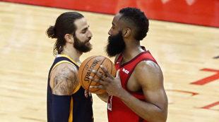 Rockets vs Jazz: 'La Barba' Harden anula la magia de Rubio...