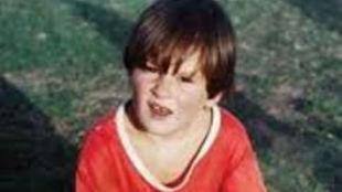 Leo Messi a los cinco años