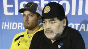 Maradona, durante una conferencia de prensa.