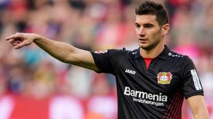 Alario, hoy en el Bayer Leverkusen