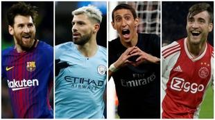 Messi, Agüero, Di María y Tagliafico, con chances de gritar campeón...