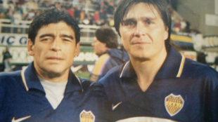 Maradona y Toresani, juntos en Boca