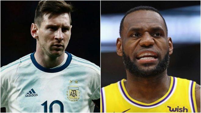 Cappa usó el palmarés de LeBron para defender a Messi.