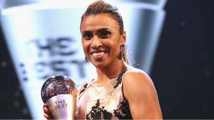 Marta, la última ganadora a mejor jugadora del año.