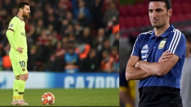Lionel Scaloni se refirió a la eliminación de Leo Messi en la...