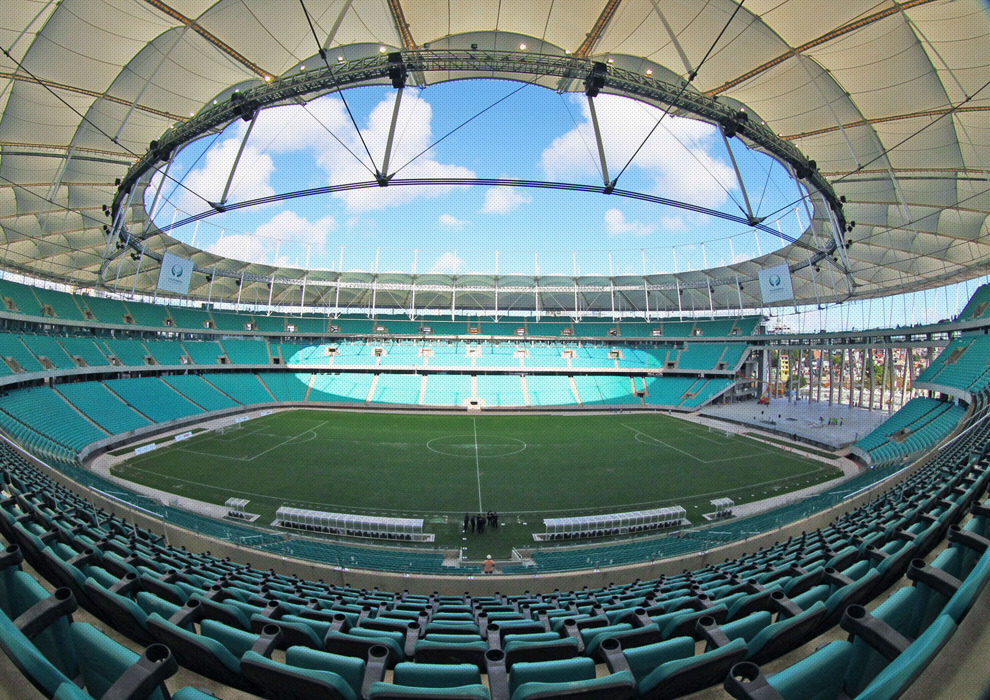 Aspecto interior del Arena Fonte Nova.