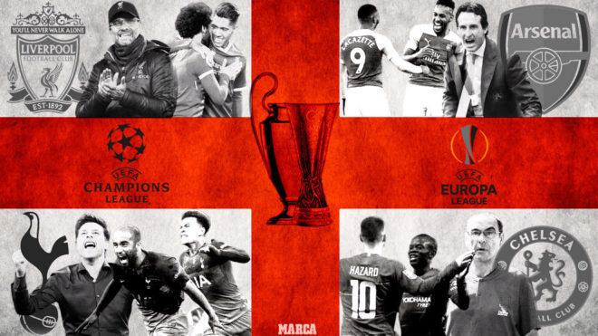 Las finales de Champions y Europa League tendrán equipos ingleses
