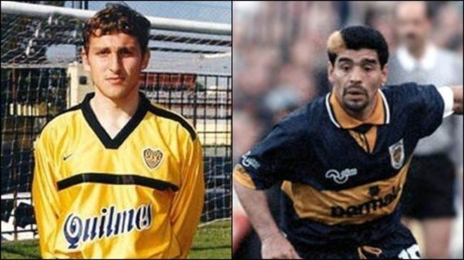 Cristian Muñoz y Diego Maradona compartieron equipo en el 97