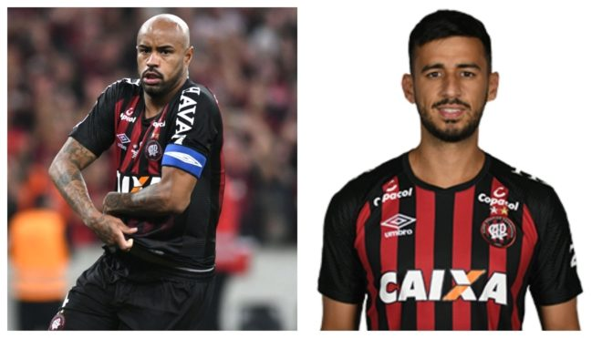 Thiago Heleno y Camacho, jugadores del Athletico Paranaense.