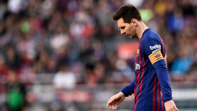 Messi, durante el partido con el Getafe.