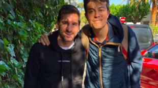 Santiago con Messi.