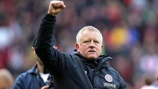 Chris Wilder celebra una victoria del Sheffield United.