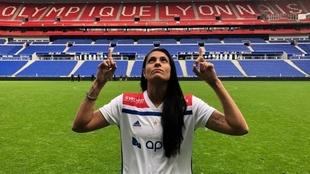 Soledad Jaimes, futbolista argentina del Olympique de Lyon.