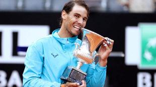 Nadal reina en Roma ante Djokovic y suma su primer título del año
