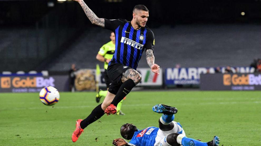 Icardi no pudo evitar la derrota.