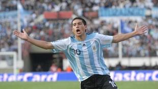 Riquelme con la Selección Argentina