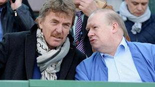 Zbigniew Boniek, a la izquierda, junto a Jerzy Kanclerz.