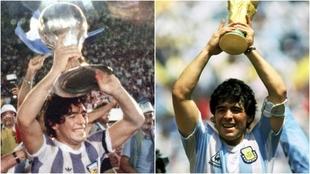 Diego fue campeón del mundo juvenil en 1979, y de mayores en 1986.