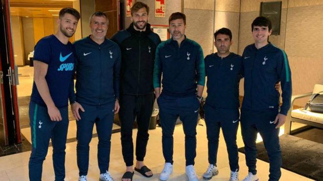 Sebas Pochettino, Toni Jiménez, Llorente, Pochettino, Jesús Pérez y...
