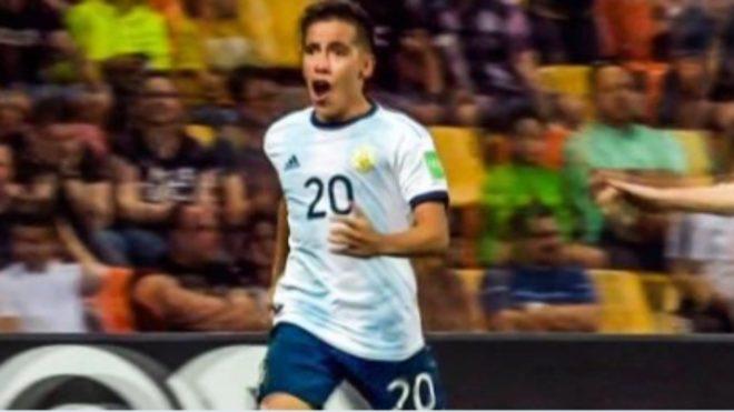 Ezequiel Barco, futbolista de la Selección Sub 20 de Argentina.
