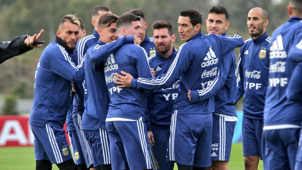 Resultado de imagen para argentina entrenamiento scaloni
