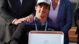 Gustavo Fernández, reciente campeón de Roland Garros.