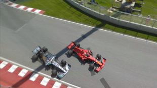 Vettel soltó el volante para cerrar a Hamilton, según los comisarios