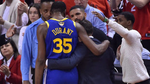 Los Warriors confirman el peor pronóstico: Kevin Durant se lesiona el...