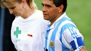 Diego Maradona y Sue Carpenter.
