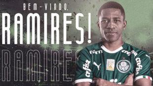 Ramires, nuevo jugador del Palmeiras.
