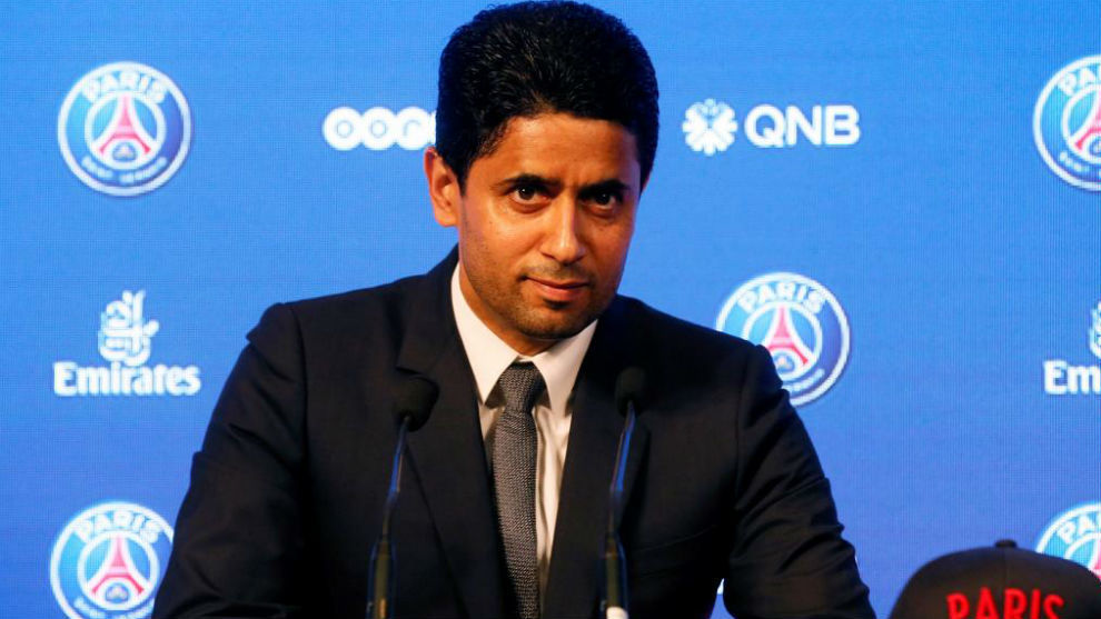 Nasser Al Khelaifi, en una rueda de prensa. EFE