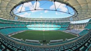 El estadio Arena Fonte Nova, eje de las críticas de Scaloni