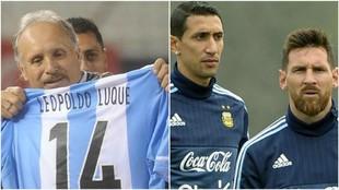 Luque criticó a Messi y Di María